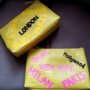Clutch bag yellow and black